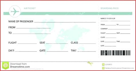 Plane Ticket Template Word Elegant Invitation Airline Pdf Meetwithlisa Info Plane Ticket Template Pdf