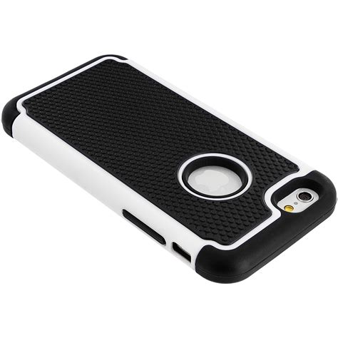 Hardcase Dove Black For Iphone6 black white hybrid rugged armor protector cover for apple iphone 6 plus 6s plus 5 5