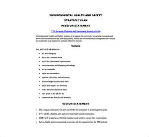 Environmental Statement Template by 12 Health And Safety Plan Templates Free Sle