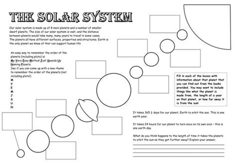 Solar System Worksheets Middle School by Solar System Worksheets Free Middle School Solar Best