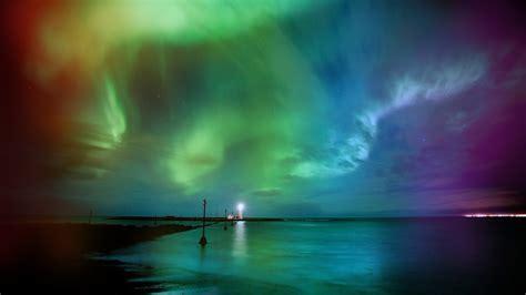 colorful night wallpaper aurora borealis rainbows wallpaper 1920x1080 217929