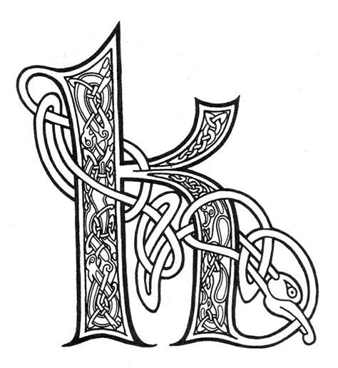 celtic letter coloring page celtic letter k сказки о жизни letters numbers