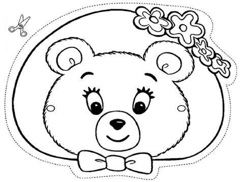 masque ours ami oui oui a colorier d 233 coupage a imprimer
