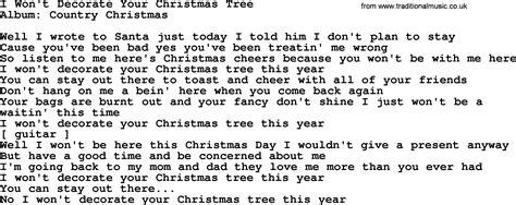 decorate the christmas tree lyrics loretta song i won t decorate your tree lyrics