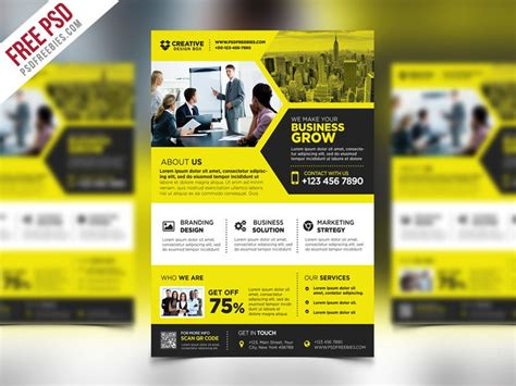 promotional poster template best free flyer templates psd 187 css author