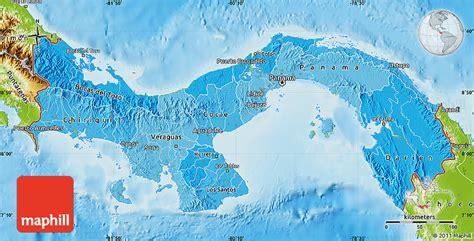 physical map of panama political shades map of panama physical outside