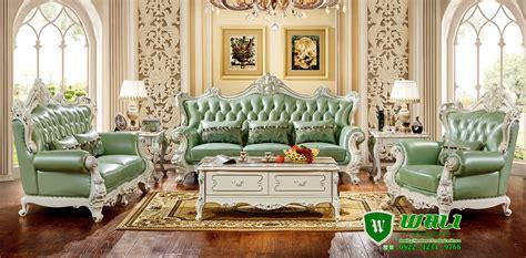 kursi tamu kayu ukiran mewah elegan warna hijau wali