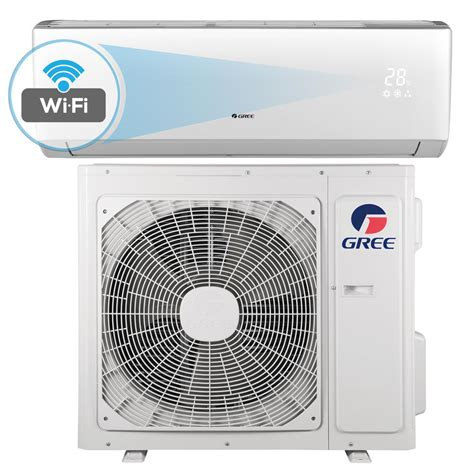 12000 btu room size gree livo 12 000 btu 1 ton wi fi programmable ductless mini split air conditioner with inverter