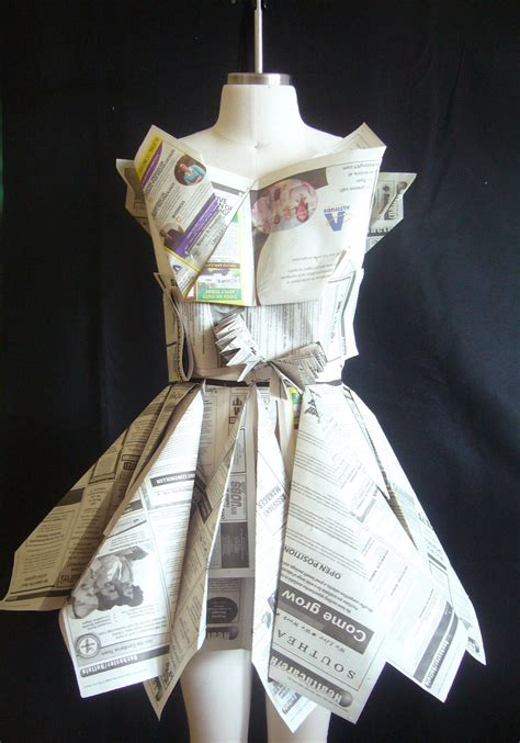 How To Make Clothes Out Of Paper - fashion and trend recycled fashion beautiful dresses