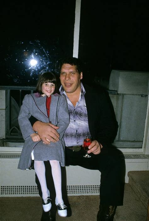 andre  giant   young stephanie mcmahon wrestling