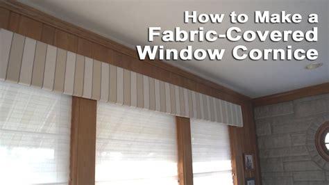 fabric covered window cornice youtube