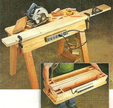 portable woodworking shop 977 portable workbench plans woodarchivist