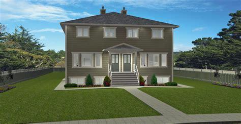 4 Plex Plan 2009485 By Edesignsplans Ca 4 Plex House Plans Canada