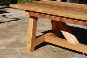 initiales gg diy une table de jardin en bois