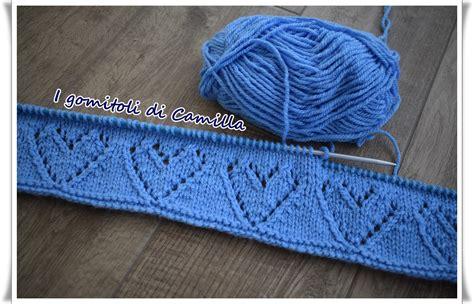 copertine per culla a maglia copertina a maglia con cuori traforati i tutorial di camilla