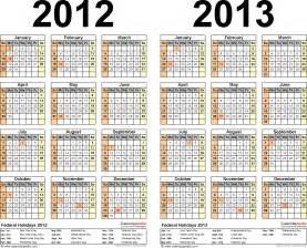 calendar template 2012 2012 2013 calendar free printable two year excel calendars