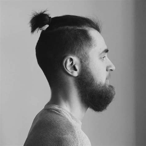 men growing hair for a top knot 11 manly man bun top knot hairstyle combinations