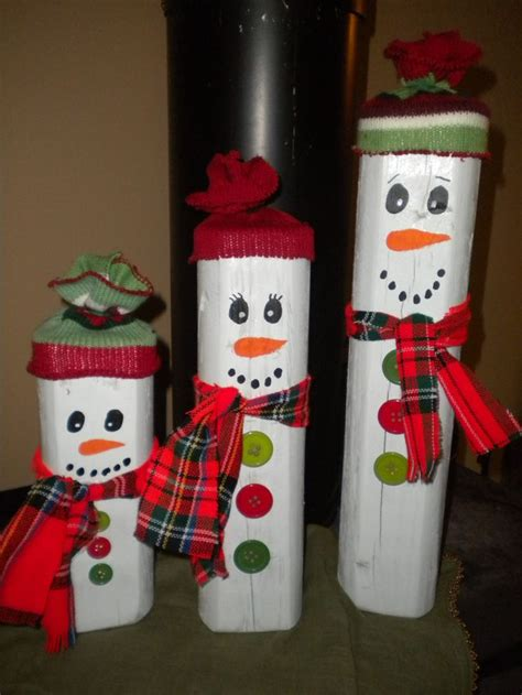 country christmas snowmen   landscape timber