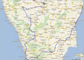 south india map with cities