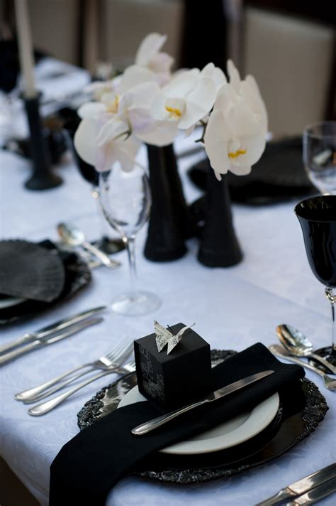 black blue and silver table settings extra dressy crushed white taffeta tablecloth with vintage