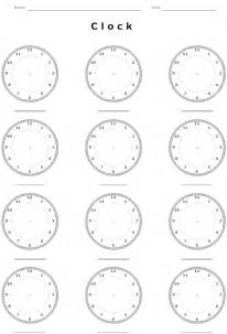 8 best images of blank clocks worksheets time blank