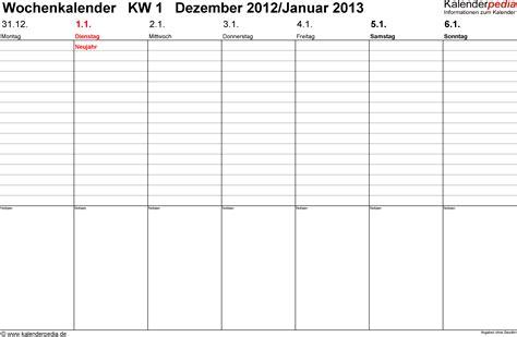 Word Vorlage Querformat Wochenkalender 2013 Als Word Vorlagen Zum Ausdrucken