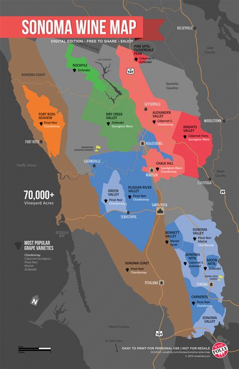 wine map sonoma wine map poster wine folly