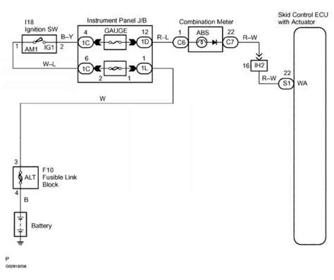 abs warning light circuit circuit description toyota