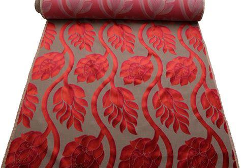 multi coloured upholstery fabric two tone multi coloured raised large floral cut velvet
