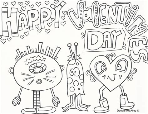 doodle valentines day coloring pages doodle coloring pages