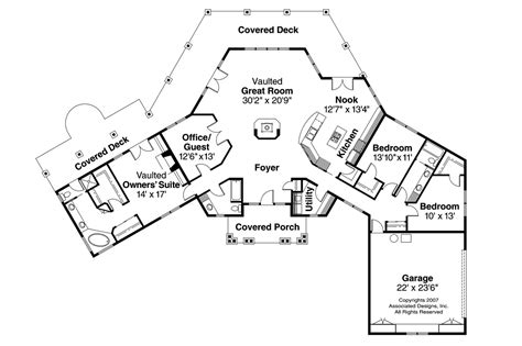 floor plan view craftsman house plans oceanview 10 258 associated designs