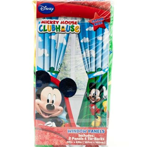 disney mickey mouse clubhouse window panels curtains drapes kids bedroom ebay
