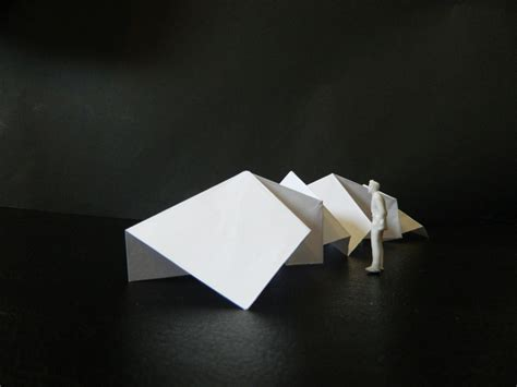 Origami Model - origami concept model architecture concept models