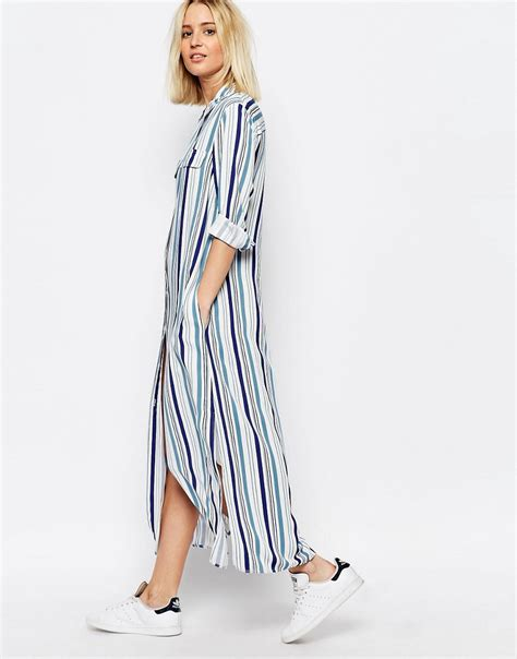 Maxi Dress Wanita Irl Patches Stripe Blouse Blue the grown up school summer dress does my bum look 40 in this