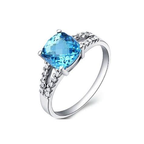 1 5 carat topaz gemstone engagement ring on silver