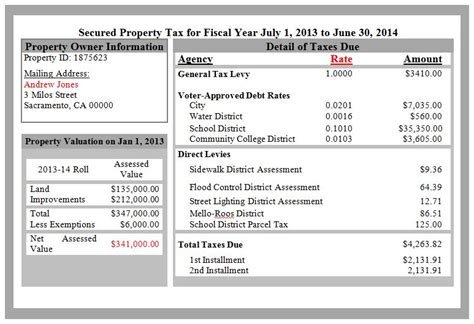 property and property tax california property tax change