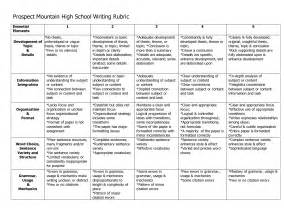 Essay Grading Rubric High School by Writing Rubric For Middle School Science Descriptive Writing Rubric For Middle School General