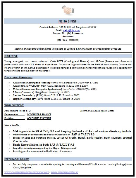 Make An Excellent Resume For by Exle Template Of An Excellent Icwa And M Resume