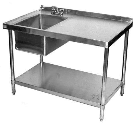 kitchen sink restaurant stainless work table with sink commericial restaurant work table with sink stainless table with