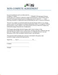 non compete agreement template 10 non compete agreement sle letter template word