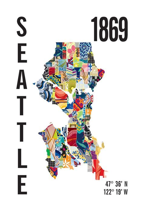 seattle map neighborhoods poster 17 best images about northwest nostalgia on