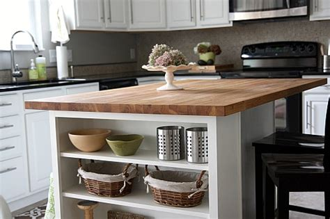 kitchen island butcher block top house tweaking