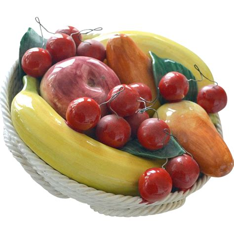 Handmade Fruits - fruit bowl bassano italy handmade from artsnends on ruby