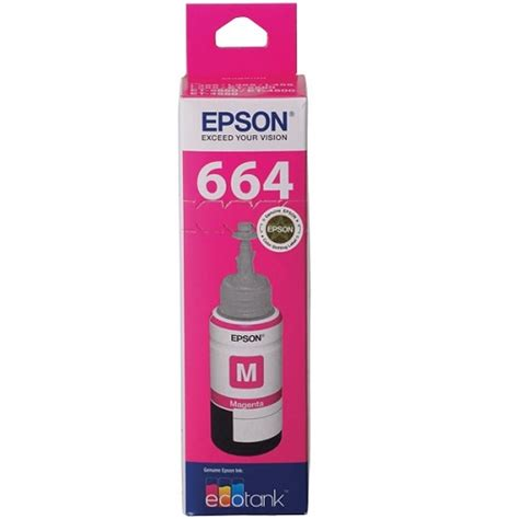 Epson T664 epson t664 magenta ink bottle c13t664392 genuine inkdepot