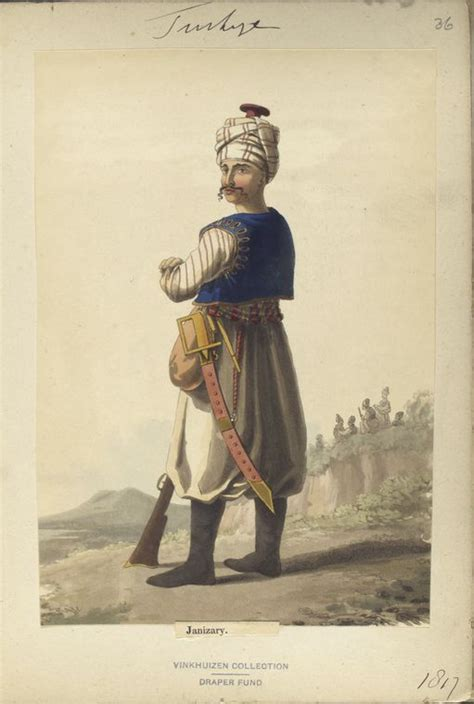 ottoman generals janisary the vinkhuijzen collection of uniforms turkey 1818 see mclean s turkish