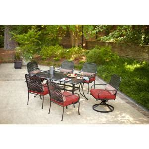 fall river 7 pc dining set patio furniture and other items