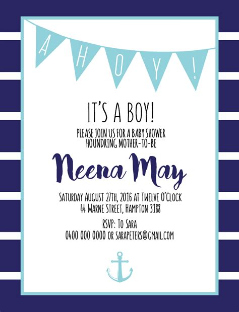 Ahoy Its A Boy Baby Shower Invitations by Ahoy It S A Boy Dp Baby Shower Invitations