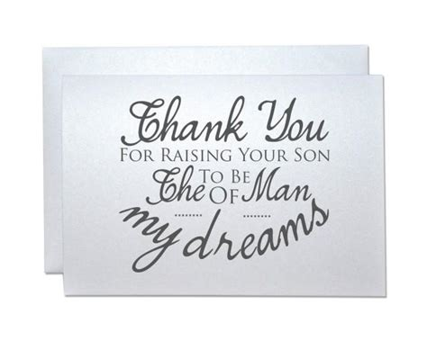 thank you letter to parents for raising me wedding thank you card from groom to new inlaws