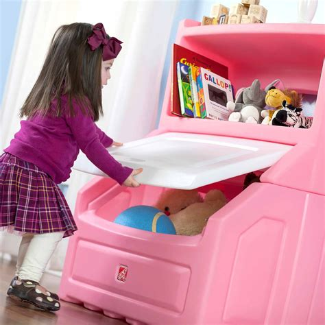 Step2 Lift Hide Bookcase Storage Chest Lift Amp Hide Bookcase Storage Chest Pink Red Blue Toy Kids