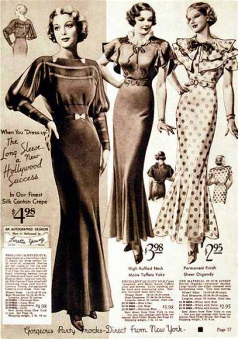 how to date womens vintage fashion from the 1930s
